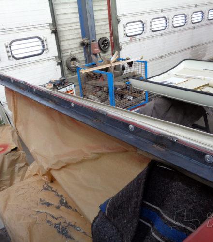 Pose d'un toit levant sur Combi Bay Window